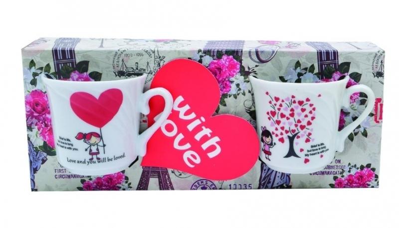 Šoljice keramičke za kavu Love 2/1 JU35271