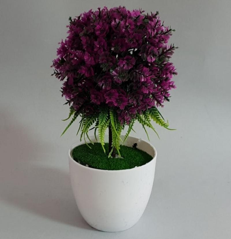 Cvijeće  umjetno  u  saksiji   19cm   CH6009