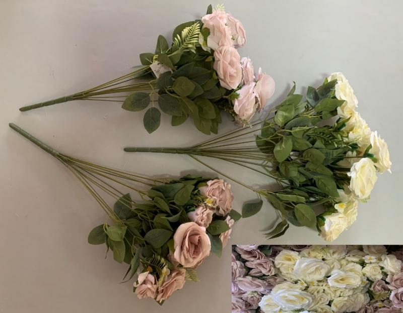 Cvijeće umjetno buket 11 ruža 50x5cm CH60666
