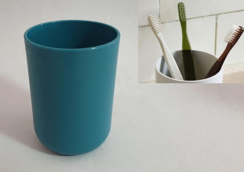 Posuda za četkice za zube Sanitary ware's window 7,5x10cm tirkizno plava  CH6292