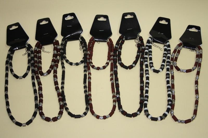 Set ogrlica+narukvica drvena  CH4311