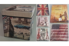 Kutija-tabure na sklapanje 31x31x31,5cm CH50210