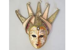 Venecijanska maska 35x20cm ,bež  CH60461-B