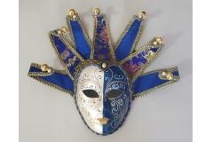 Venecijanska maska 35x20cm ,plava  CH60461-D