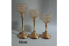 Svijećnjak metalni zlatni 35x12,5cm CH6817