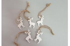 Božićna dekoracija viseća drveni jelen  5/1   5X3,5cm    CH6831-C
