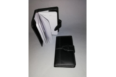 Notes crni kožni 16x9cm CH60017
