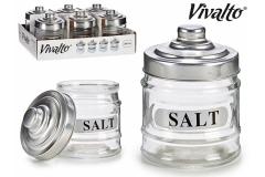 Staklena posuda za sol  300ml 10,5x8,5cm BC78720