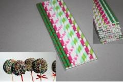 Ukrasni papirni štapići za čokoladne lizalice 19,7cm  10/1  CH50241