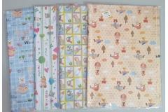 Papir ukrasni za pakiranje dječji uzorak 51x75cm 50/1 60g CH50707-B
