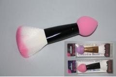 Spužvica za konturiranje lica+četkica za šminkanje   CH52013