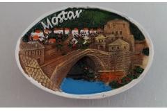 Suvenir magnet keramički Mostar 7x5cm   CH52089