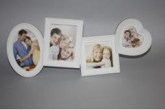 Okvir za slike, 4 slike bijeli   CH52189
