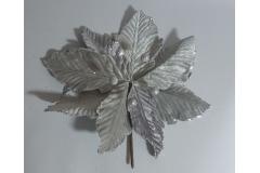 Cvijet dekoracija božićna zvijezda  srebrna  26x25cm  CH53174