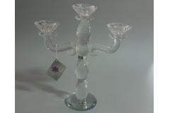 Svijećnjak kristalni stolni 3 svijeće  29x26cm CH54113