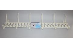 Vješalica za vrata sa 6 kuka  na tiple   14,5x52,5cm   CH57028