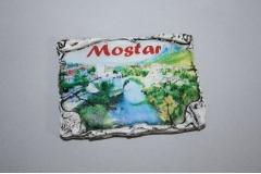 Magnet za frižider suvenir   MOSTAR  list   7,5x5,5cm  CH57534