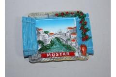 """Suvenir magnet keramički """"MOSTAR""""  prozor  7,3x6cm   CH57641"""