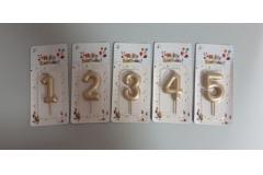 Svijeća rođendanska 5,5x4cm  1,2,3,4 i 5, sorto CH60066
