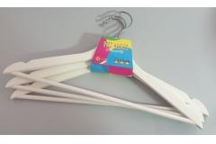 Vješalice za odjeću drvene bijele 3/1 43cm CH60432