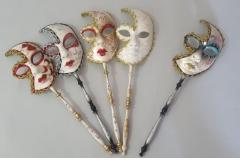 Venecijanska maska sa drškom 51cm CH60463