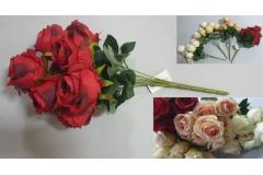 Cvijeće umjetno buket od 9 ruža 44cm  CH60501