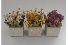Umjetno cvijeće u saksiji 19x8,5x8cm CH60548