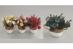 Umjetno cvijeće u saksiji 15,5x9x6cm CH60552