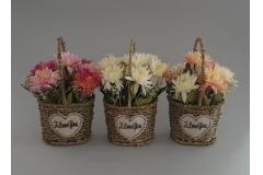 Umjetno cvijeće u saksiji 22x12x10cm CH60553