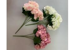 Cvijeće umjetno 5 hortenzija 49cm  CH60669