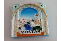 Suvenir magnet keramički Mostar 7x6cm   CH6283