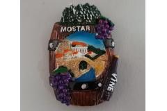 Suvenir magnet keramički  Mostar  8x5,5cm   CH6285