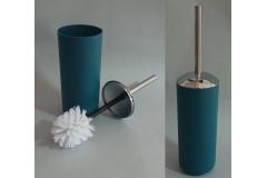 Posuda i četka za WC šolju Sanitary ware's window 38x10cm tirkizno plava  CH6294