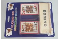 Karte za igranje 2 špila + domine  CH6439