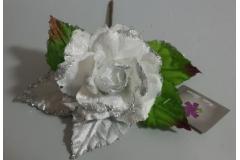 Božićna  ruža bijela  25x11cm  CH6638