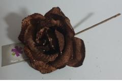 Božićna ruža smeđa 22x12cm CH6639