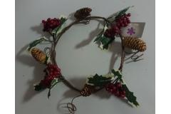 Božićna dekoracija vijenac 28cm CH6648