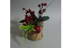 Božićna dekoracija u saksiji  23cm CH6649