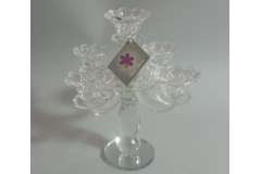 Svijećnjak kristalni stolni 5  svijeća 25,5x23,5x19cm  CH6766