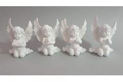 Figura anđeo keramički  12,6x8,5cm  CH6778
