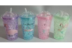 Čaša za hladni napitak  na slamku  500ml PVC CH6810