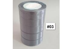 Traka za pakiranje satenska 22m x 2,5cm jednobojna siva CH8460-03