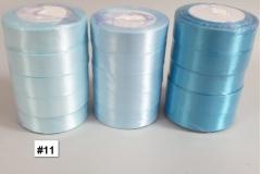 Traka za pakiranje satenska 22m x 2,5cm jednobojna svijetlo plava   CH8460-11