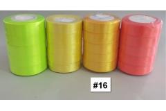 Traka za pakiranje satenska 22m x 2,5cm jednobojna prljavo žuta CH8460-16