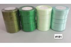 Traka za pakiranje satenska 22m x 2,5cm jednobojna mentol zelena CH8460-181
