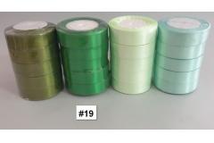 Traka za pakiranje satenska 22m x 2,5cm jednobojna zelena CH8460-19