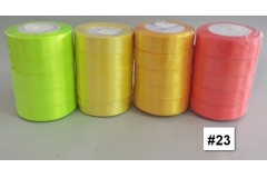 Traka za pakiranje satenska 22m x 2,5cm jednobojna narandžasta CH8460-23