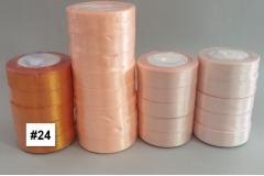 Traka za pakiranje satenska 22m x 2,5cm jednobojna tamno narandžasta CH8460-24