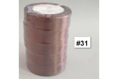 Traka za pakiranje satenska 22m x 2,5cm jednobojna smeđa CH8460-31