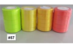 Traka za pakiranje satenska 22m x 2,5cm jednobojna florocentna zelena CH8460-57